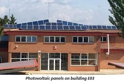 photo of photovoltaic panels on building E03