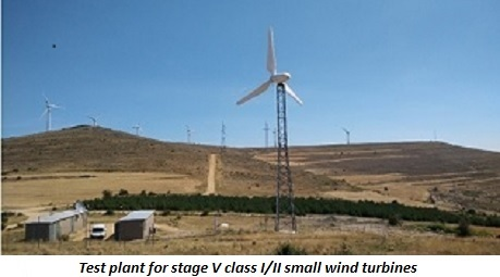 photo of test plant for stage V class I/II small wind turbines
