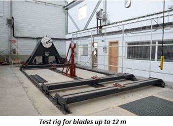 photo of test rig for blades up to 12 m