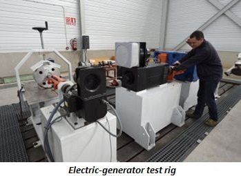 photo of electric-generator test rig