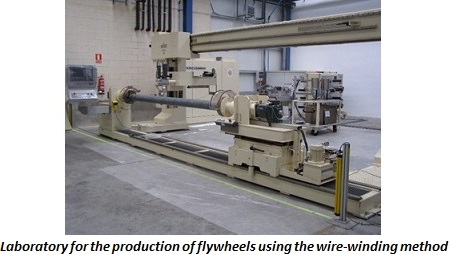 photo of laboratory for the production of flywheels using the wire-winding method